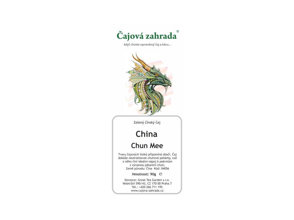 Zelený sypaný čaj China Chun Mee