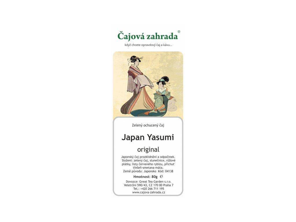 Zelený sypaný čaj Japan Yasumi