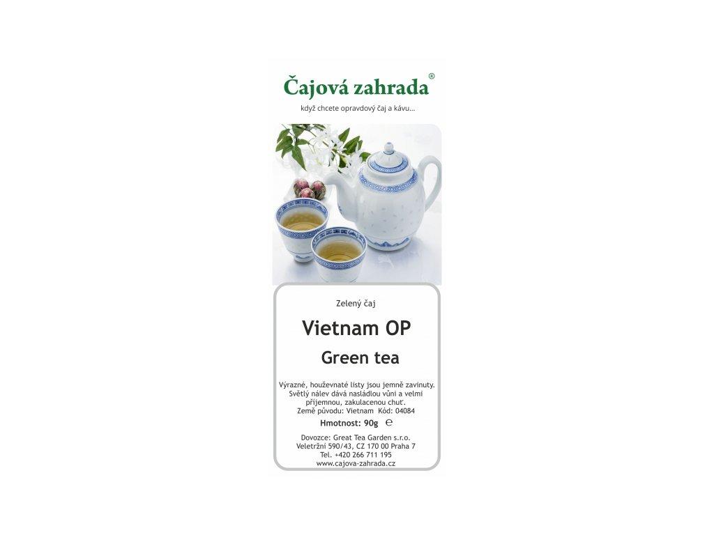 Zelený sypaný čaj Vietnam OP Green