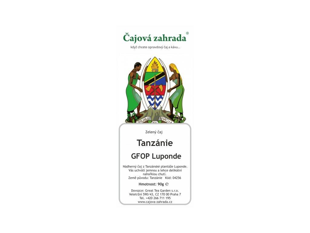 Zelený sypaný čaj Tanzánie Luponde Green