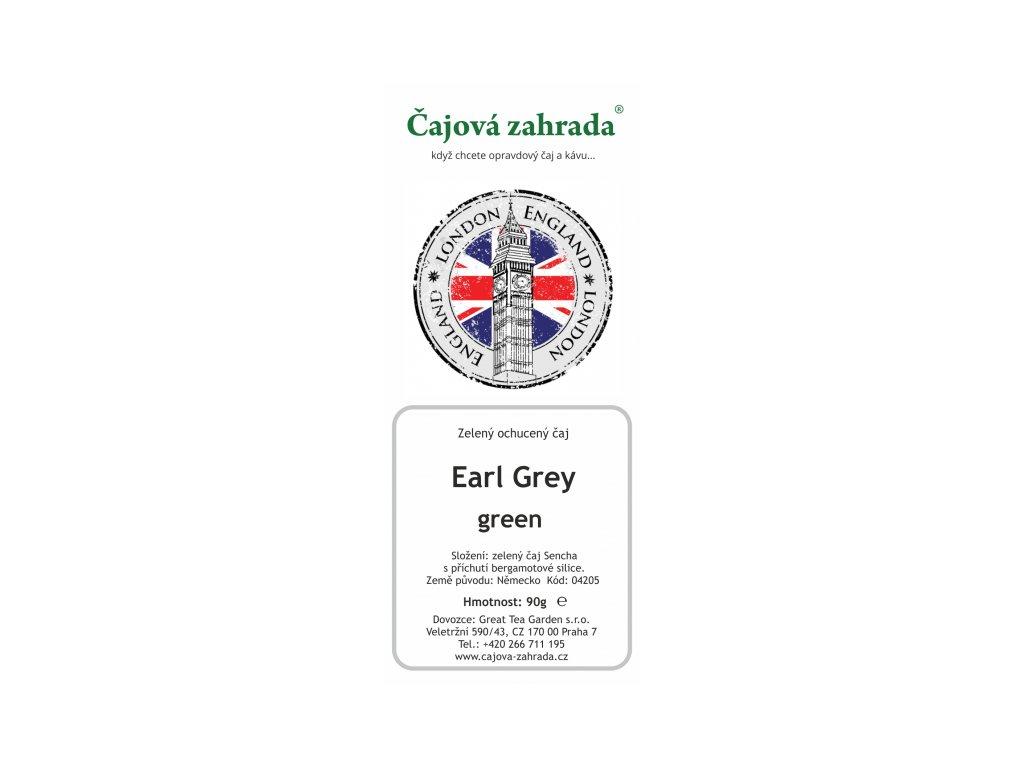 Zelený ochucený čaj Earl Grey green