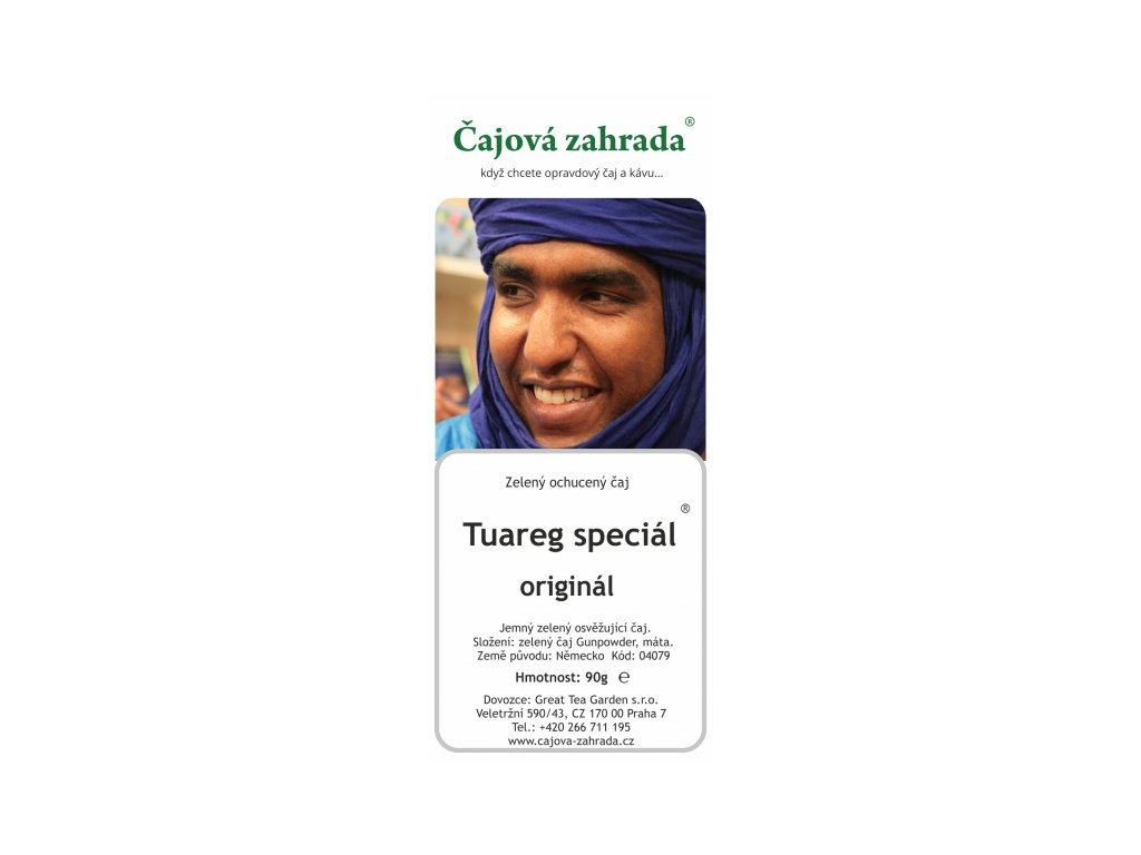 Sypaný zelený ochucený čaj Tuareg speciál