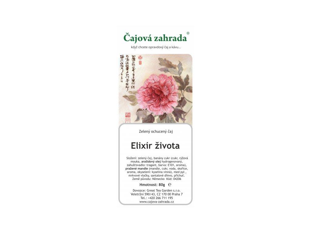 Zelený ochucený čaj Elixír života