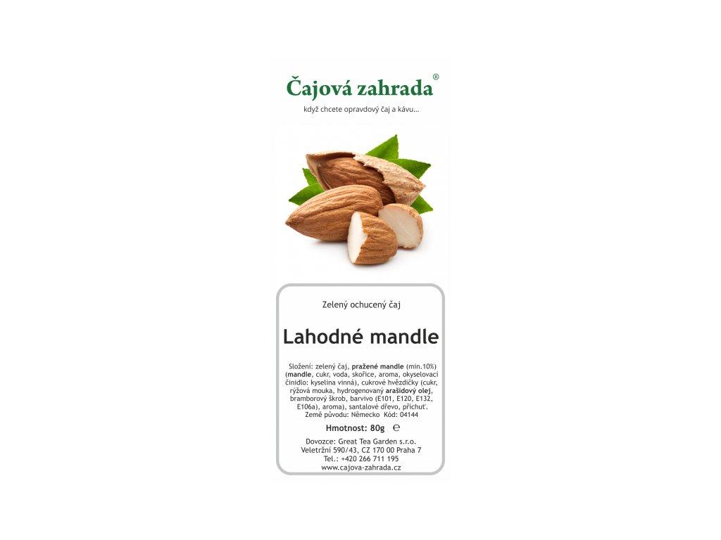 Sypaný zelený ochucený čaj Lahodné mandle