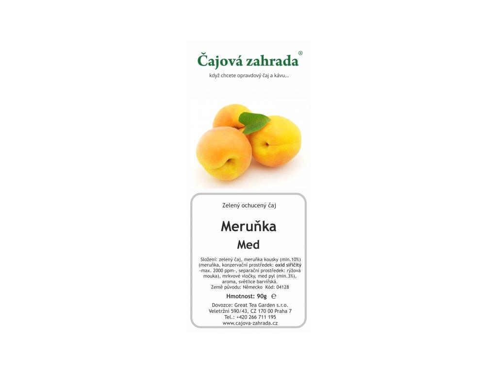Sypaný zelený ochucený čaj Meruňka_Med