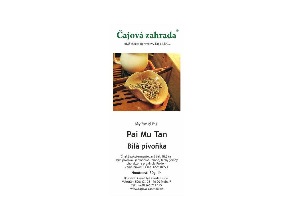 Bílý sypaný čaj Paimutan