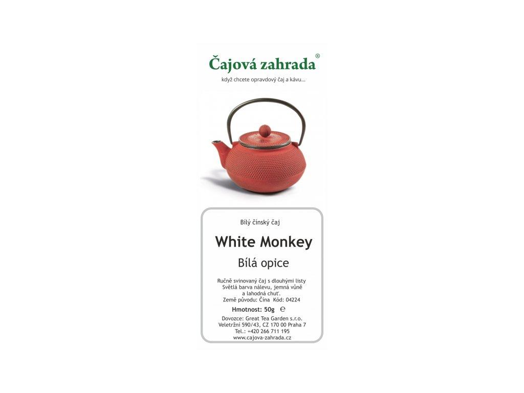 Bílý sypaný čaj  China White Monkey