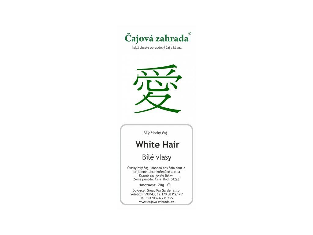 Bílý sypaný čaj White Hair