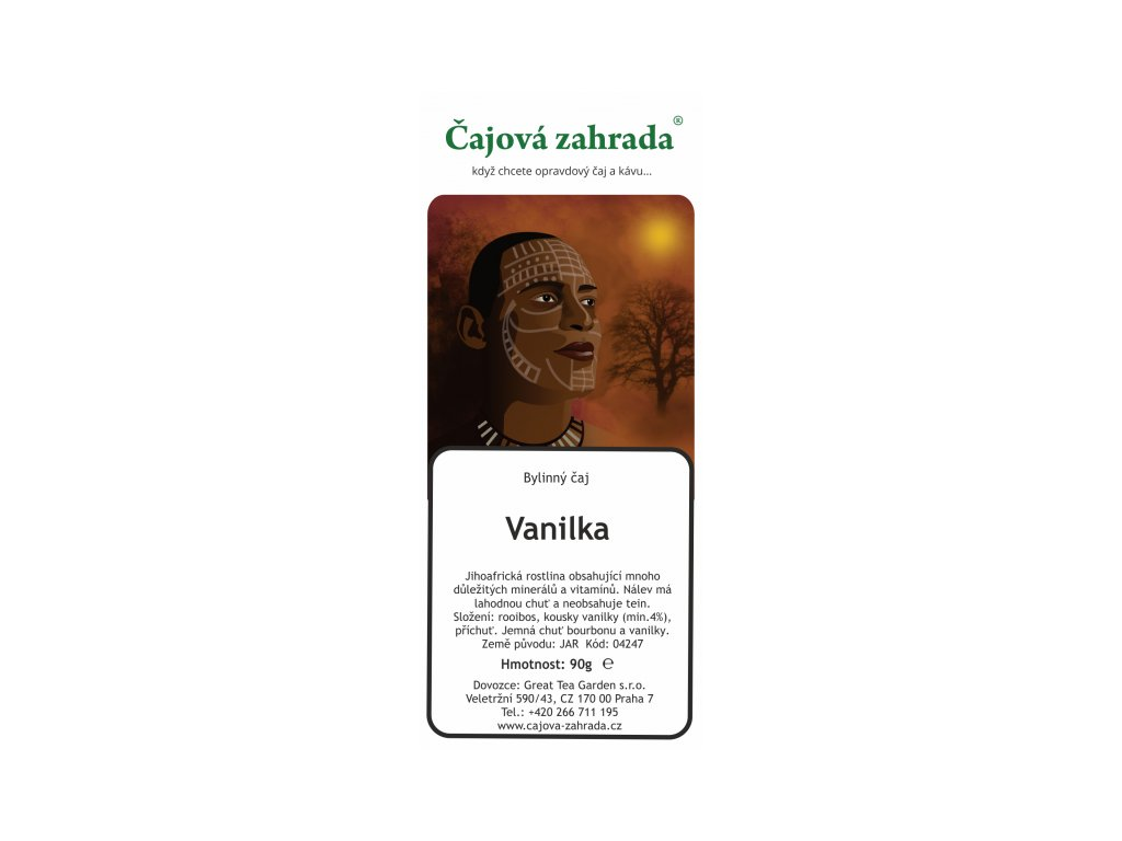 Rooibos sypaný čaj Vanilka