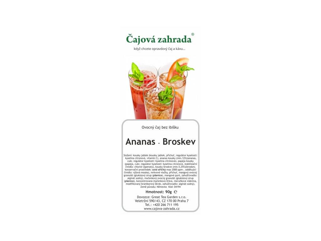 Ovocný sypaný čaj Ananas Broskev