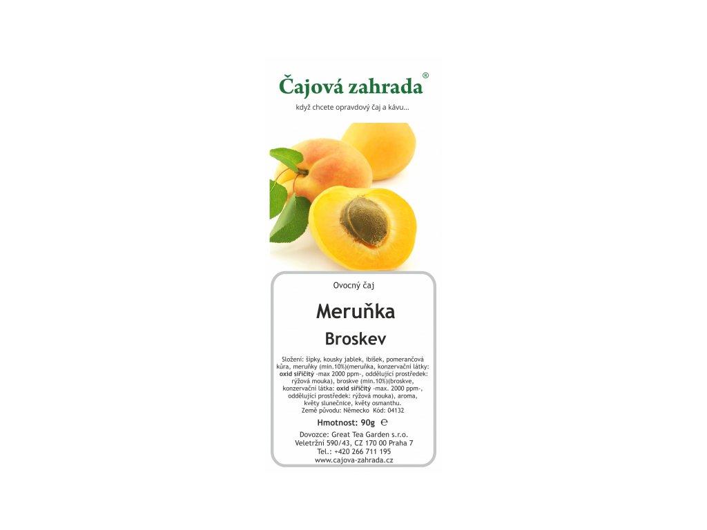 Ovocný sypaný čaj Meruňka Broskev