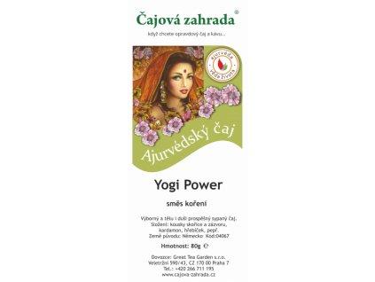 Ájurvédský sypaný čaj Yogi PowerSypaný čaj Yogi Power
