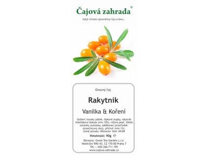 Ovocný sypaný čaj Rakytník_Vanilka_Koření