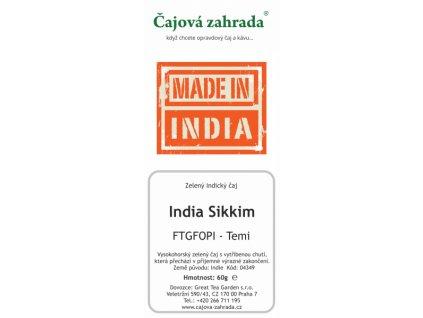 Zelený sypaný čaj Indie Sikkim Temi Green