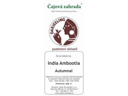 Sypaný černý čaj India Darjeeling Ambootia Autumnal