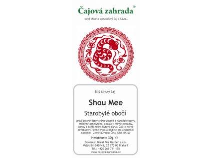 Bílý sypaný čaj Shou Mee