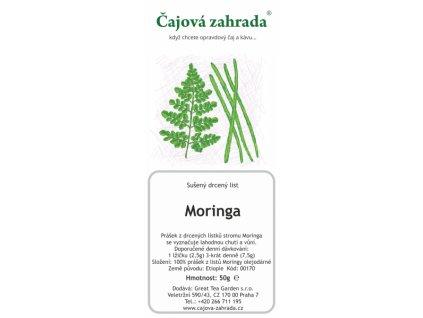 Zelená sypaná Moringa prášek