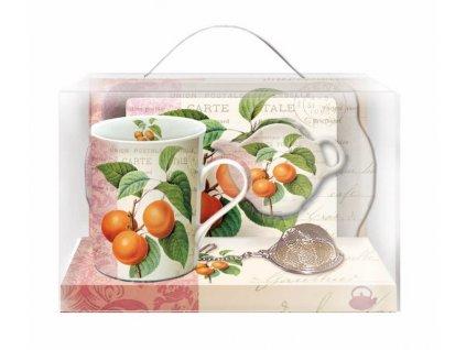 Čajová souprava pro jednoho Beaux Fruits Apricot