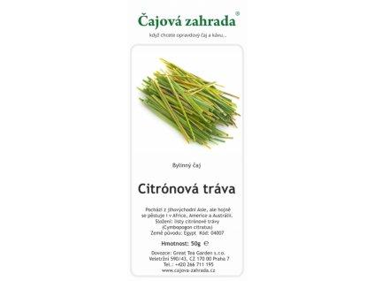 Bylinný čaj Citrónová tráva