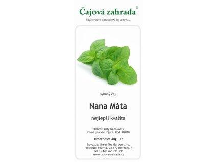 Bylinný čaj Nana Máta | Čajová zahrada