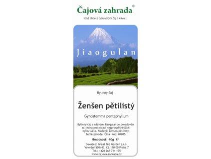 Čaj Ženšen pětilistý -Jiaogulanpětilistý_Čajová zahrada