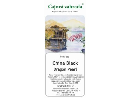 Sypaný černý čaj China Black Dragon Pearl