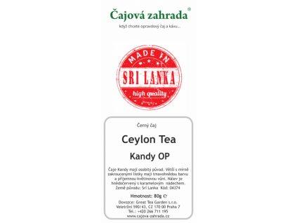 Sypaný černý čaj Ceylon Kandy