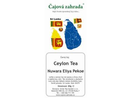 Sypaný černý čaj Ceylon Nuwara Eliya Pekoe