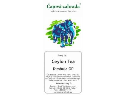 Sypaný černý čaj Ceylon Dimbula OP