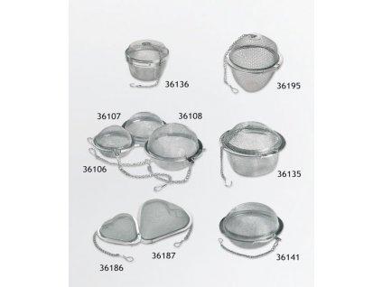 Sítko na čaj Srdce s řetízkem 55 mm