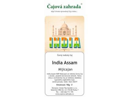 Sypaný černý čaj India Assam BOP Mijicajan
