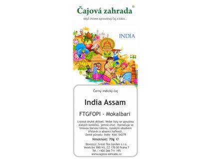 Sypaný černý čaj India Assam FTGFOPI Mokalbari