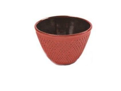 Japonský litinový šálek Nikko červený