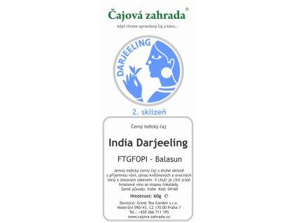 Sypaný černý čaj India Darjeeling FTGFOPI Balasun