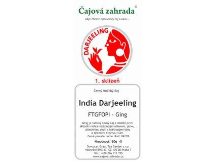 Sypaný černý čaj India Darjeeling FTGFOPI Ging