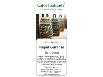 Nepál Guranse Blatt Green
