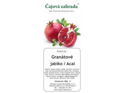 Granátové jablko Acai - ovocný čaj