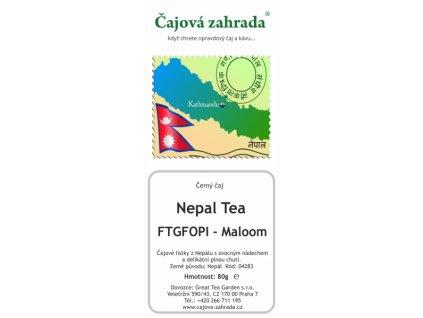 Nepál FTGFOPI Maloom - černý čaj