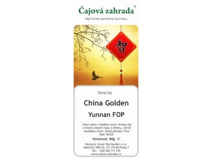 Sypaný černý čaj China Golden Yunnan