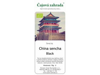 Sypaný černý čaj China Black Sencha