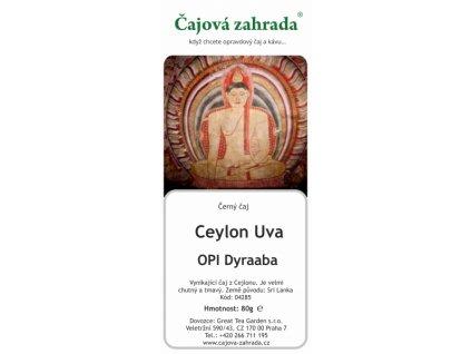 Sypaný černý čaj Ceylon Uva OPI Dyraaba