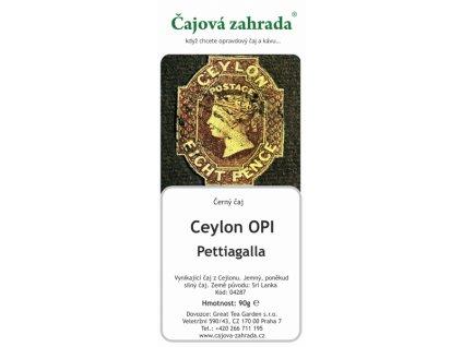 Sypaný černý čaj Ceylon OPI Pettiagalla