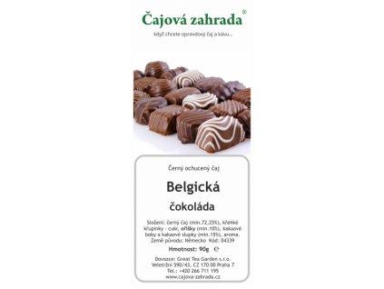 Černý ochucený čaj Belgická čokoláda