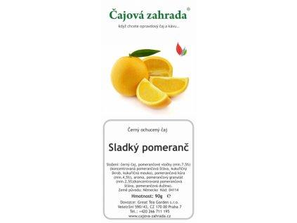 Černý ochucený čaj Sladký pomeranč
