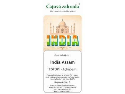 Sypaný černý čaj India Assam TGFOPI Achabam