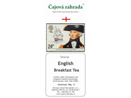 Sypaný černý čaj English Breakfast