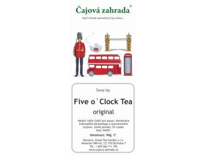 Sypaný černý čaj - Five o´Clock Tea