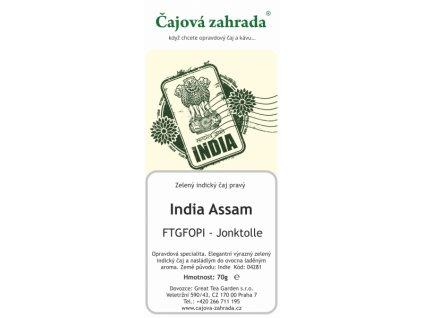 Zelený sypaný čaj India Assam FTGFOPI Joonktollee