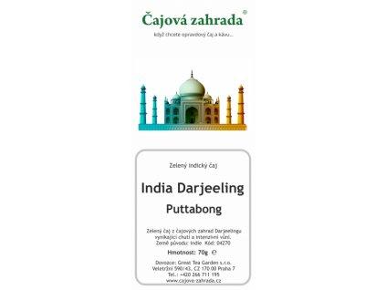 Zelený sypaný čaj Darjeeling Puttabong