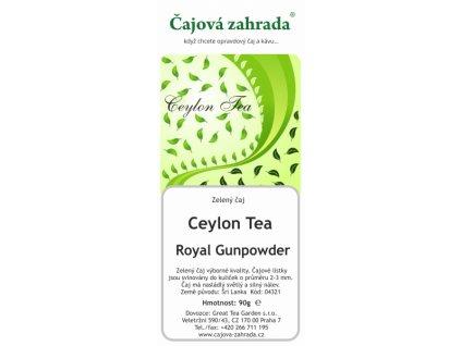 Zelený sypaný čaj Ceylon Gunpowder